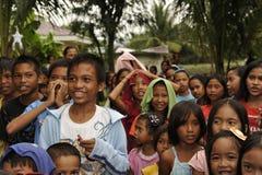 CEBU - PHILIPPINEN - JANUAR, 1 2013 - jährliche Waisenkinderpartei lizenzfreies stockbild