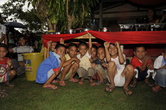 CEBU - PHILIPPINES - JANUARY,1 2013 - Annual orphan children party Stock Photography