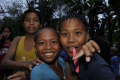 CEBU - PHILIPPINES - JANUARY,1 2013 - Annual orphan children party Stock Photo