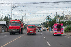CEBU - PHILIPPINES - JANUARY,7 2013 - Town street congested traffic Royalty Free Stock Image