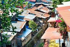 Cebu slums. Aerial view on slums at night in Cebu city, Philippines Royalty Free Stock Photo