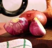 Cebula w kuchni Obrazy Stock