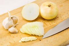 Cebule i czosnek Zdjęcie Royalty Free