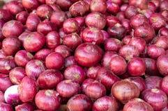 Cebule przy warzywo rynkiem obrazy stock