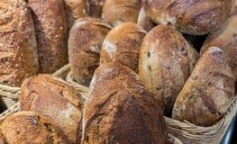 Cebuli i rodzynek chleb i grupa piec towary obraz royalty free