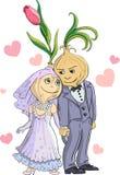 Cebulkowy ślub Zdjęcia Royalty Free