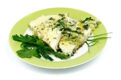 Cebulkowy omlet Zdjęcie Royalty Free