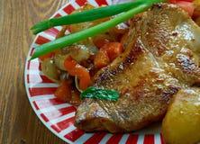 Cebulkowy stek Zdjęcia Stock
