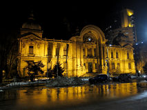 CEC Bank Bucharest, Rumänien Arkivfoto