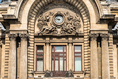 CEC Bank Downtown Bucharest On Victory Street Fotografia Stock Libera da Diritti