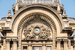 CEC Bank Downtown Bucharest On Victory Street Fotografia Stock
