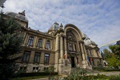 Cec-byggnad i Bucharest Arkivfoto