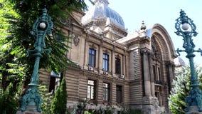 CEC Palace In Bucharest almacen de metraje de vídeo