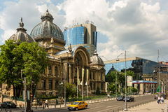 The CEC Palace In Bucharest. BUCHAREST, ROMANIA - MAY 26: The CEC Palace on May 26, 2014 in Bucharest, Romania. Built in 1900 and situated on Calea Victoriei is Stock Photos