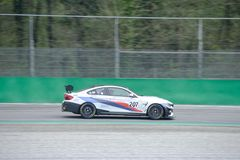 Ceccato Motor Racing Team BMW M4 GT4. Photo taken at the Monza circuit in occasion of the first 2019 Endurance Series race of the Italian GT Championship royalty free stock photo