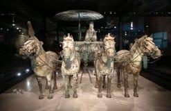 Musée de guerriers et de chevaux de la terre cuite de la Chine Images stock