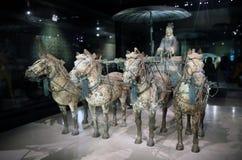 Musée de guerriers et de chevaux de la terre cuite de la Chine Photos libres de droits