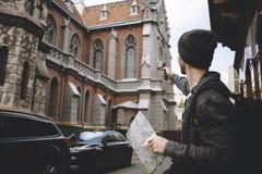Ceci voyageant est juste venu à la ville Image libre de droits