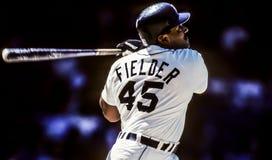 Cecil Fielder första Baseman för Detroit Tigers arkivfoto