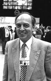 Cecil Franks. Conservative party Member of Parliament for Barrow in Furness, visits the party conference in Blackpool on October 10, 1989 Stock Photo