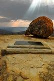 Cecil J. Rhodes grób w Matobo Obraz Royalty Free