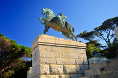 Cecil Rhodes Monument - Cape Town, África do Sul fotos de stock