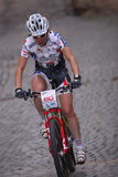 Cecile Rode Ravanel -  Prague bike race 2011 Royalty Free Stock Photos