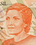 Cecilia Meireles. On 100 Cruzerios 1989 Banknote from Brazil. Poet, journalist and teacher Royalty Free Stock Photo