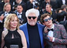 Cecilia Roth, producer Pedro Almodovar and actor Lorenzo Ferro Stock Photo