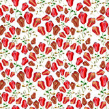 Red tulips seamless pattern  Royalty Free Stock Images