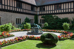 Cecilienhof Palace. Schloss Cecilienhof is a palace in Potsdam, Brandenburg, Germany. Cecilienhof was the last palace built by the Hohenzollern family that ruled Royalty Free Stock Photo