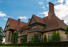 Cecilienhof Palace. Schloss Cecilienhof is a palace in Potsdam, Brandenburg, Germany. Cecilienhof was the last palace built by the Hohenzollern family that ruled Royalty Free Stock Images
