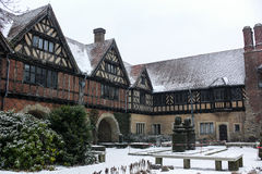 Cecilienhof Palace in Winter Snow Royalty Free Stock Photography