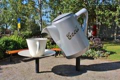 Cecilpark in Piteå royalty-vrije stock foto