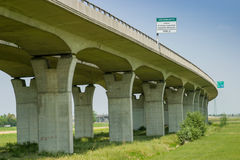 Cecina - autopista de Rosignano Solvay a Livorno, Toscana, AIE foto de archivo libre de regalías
