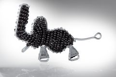 Cecina, Leghorn, Tuscany - elephant built in an artisanal way. Hand made with iron wire and beads, author of the work Roberto Nencini Stock Images