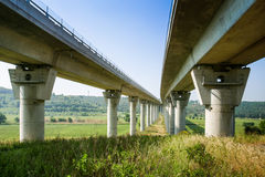 Cecina - Motorway from Rosignano Solvay to Livorno, Tuscany, Ita. Motorway from Rosignano Solvay to Livorno, Leghorn, Italy, bridge over the Valley stock images
