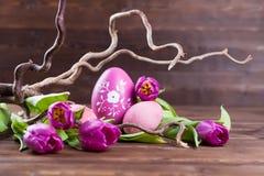 Cecoration cor-de-rosa de easter Imagens de Stock