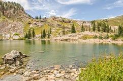 Cecret jezioro z chmurami Fotografia Stock