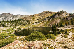 Cecret Lake at Albion Basin of Cottonwood Canyons Royalty Free Stock Photo