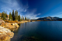 Cecret Lake in the morning. Cecret Lake is located in Little Cottonwood Canyon in Utah Royalty Free Stock Photos