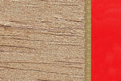 Cedar background. With yellow band and red field, template for presentation Stock Photography