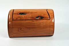Cedar Box in isolation Royalty Free Stock Photos