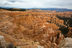 Cedar breaks geologycal formations in utah usa. Erosion created formations in cedar breaks national monument utah royalty free stock photo