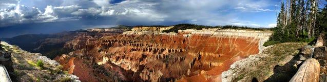 Cedar Breaks National Monument. Panoramic View of Cedar Breaks National Monument, Utah, United States stock photos