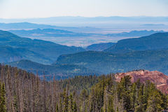 Cedar Breaks National Monument in Utah. Overlook of Cedar Breaks National Monument with Brian Head visible in the background royalty free stock photos