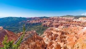 Cedar Breaks National Monument in Utah. Overlook of Cedar Breaks National Monument during the summer in Utah royalty free stock photography