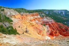 Cedar Breaks National Monument Utah. Steep cliffs seen from North View of Cedar Breaks National Monument in Utah stock images