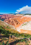 Cedar Breaks National Monument in Utah during a wildfire royalty free stock photos