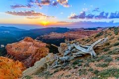 Cedar Breaks. Sunset overlooking Cedar Breaks National Monument stock images